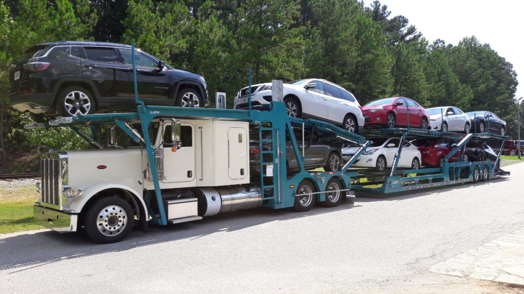 ship a car to oregon on a 9 car hauler