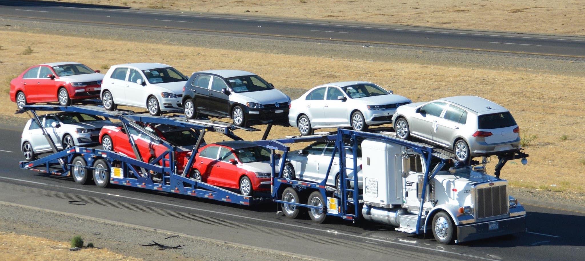 New York car shipping on a car hauler