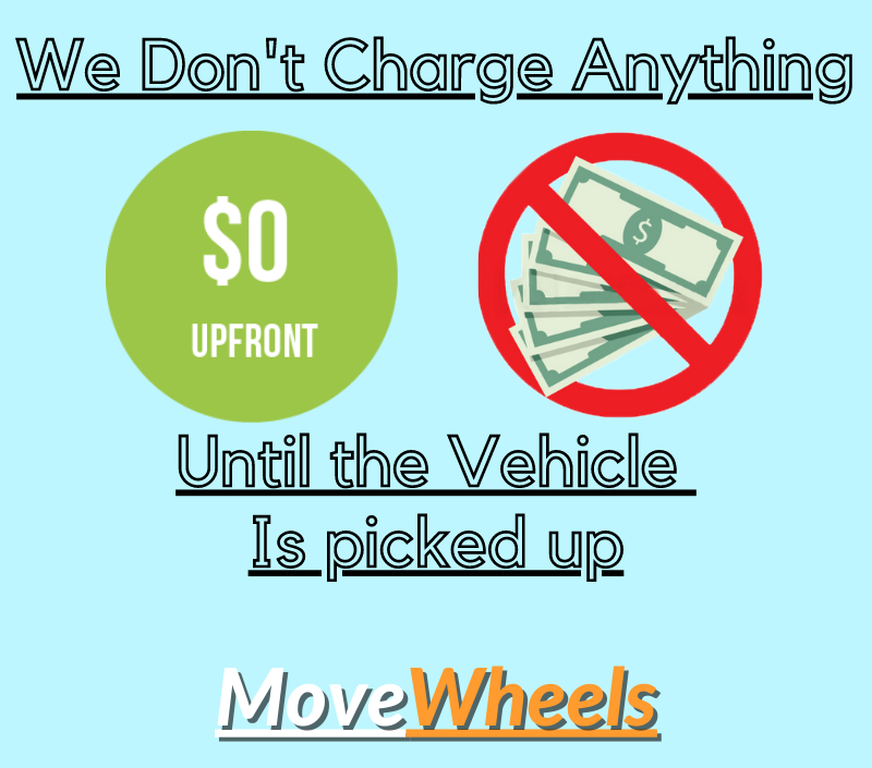 No charges upfront to ship your car