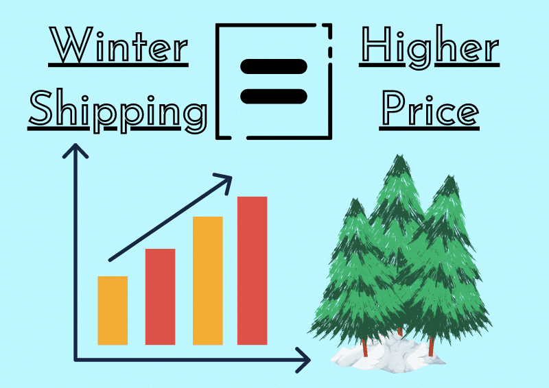 in winter vehicle shipping can costs more