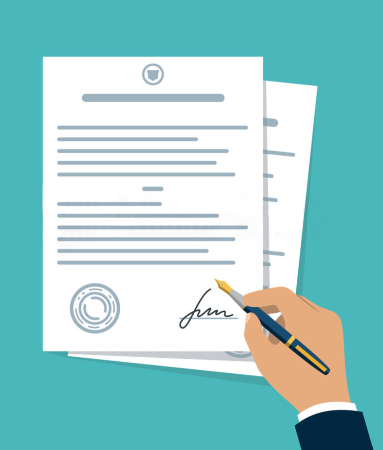 sign the auto transport contract to allow broker start his work