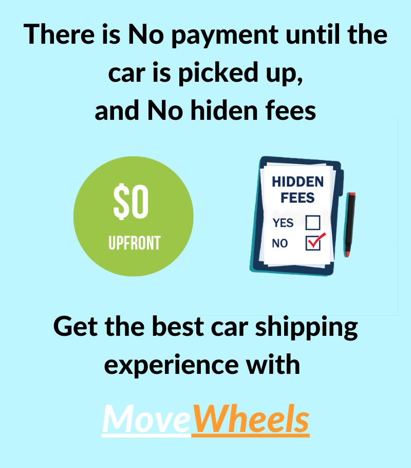 car shipping no payments upfront, no hidden fees