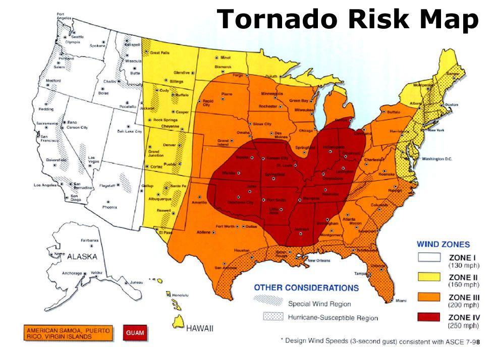 Tornado risk map in KS