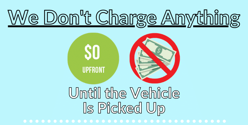 We Don't Charge Anything upfront
