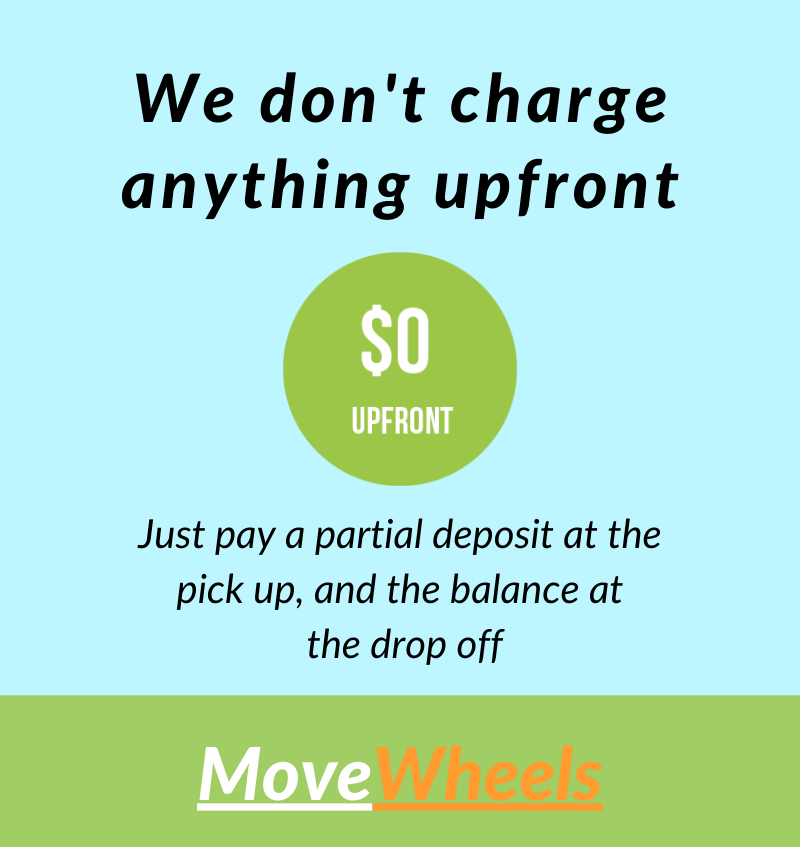No payment upfront car shipping