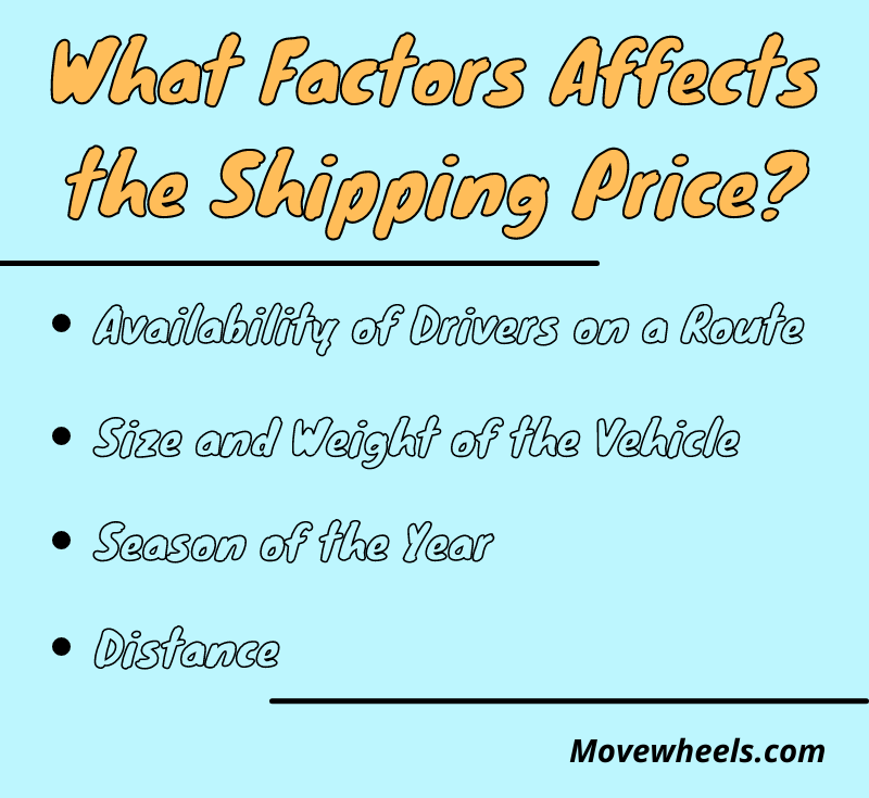 What effects the auto shipping price