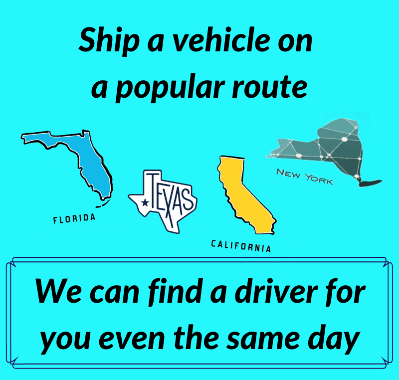 shipping vehicles on a popular routes