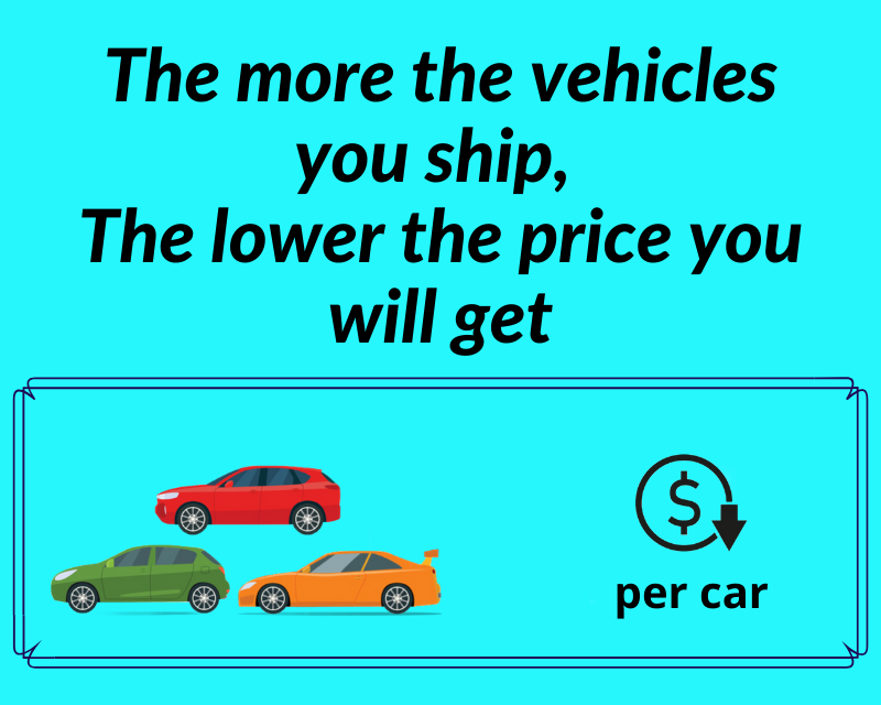 The more vehicles The lower price