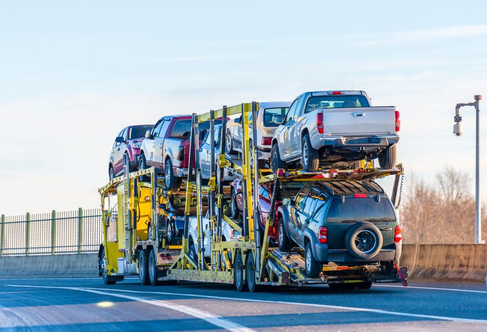 car transporting hauler