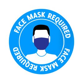 Wear a mask when contacting the driver