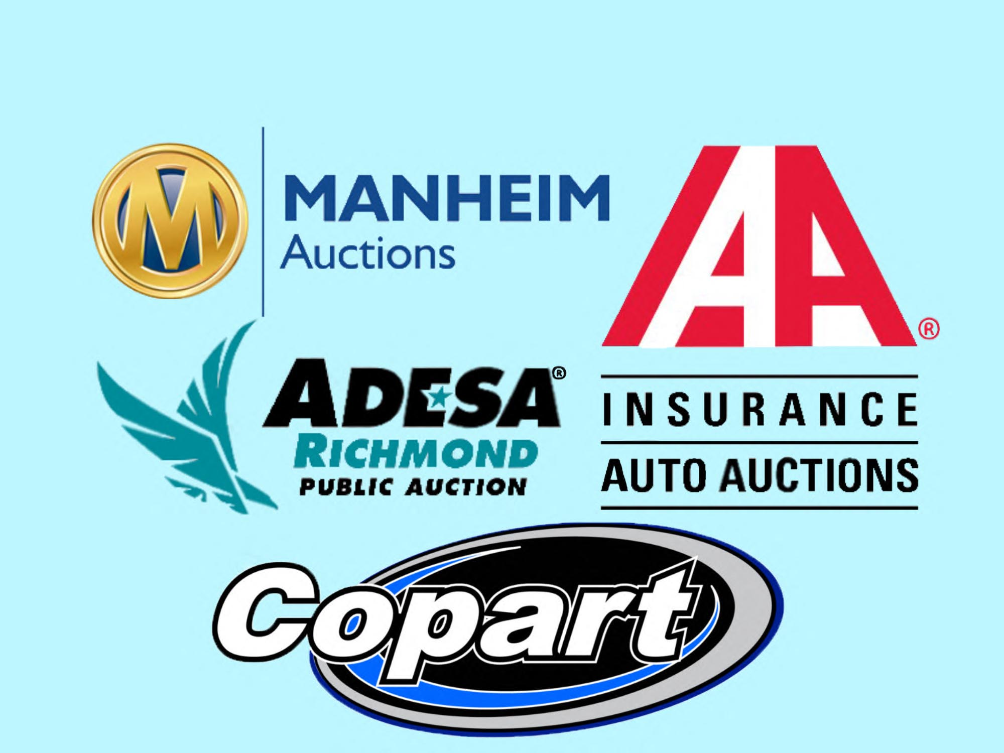 car auctions copart, manheim, IAAI, adesa