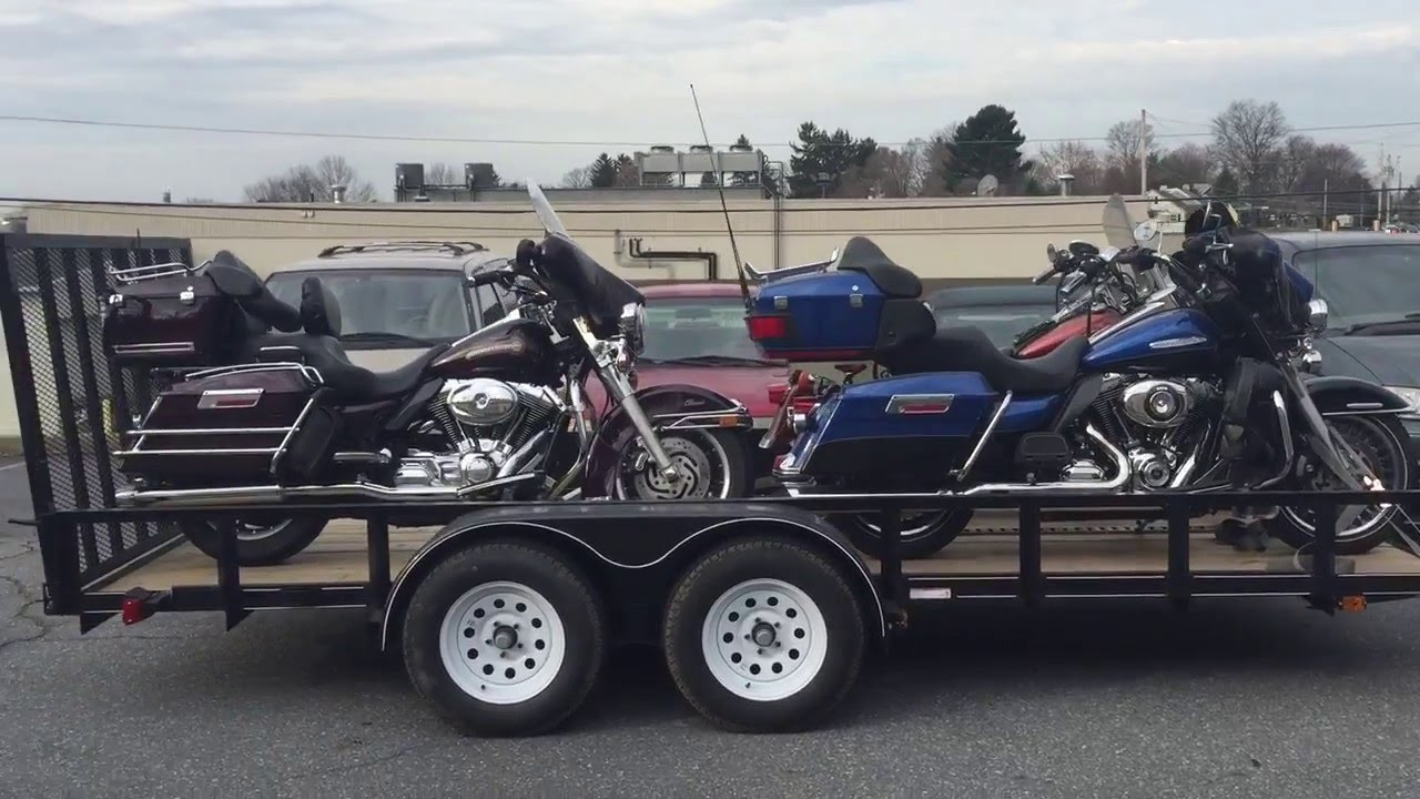 bikes shipping in open trailer
