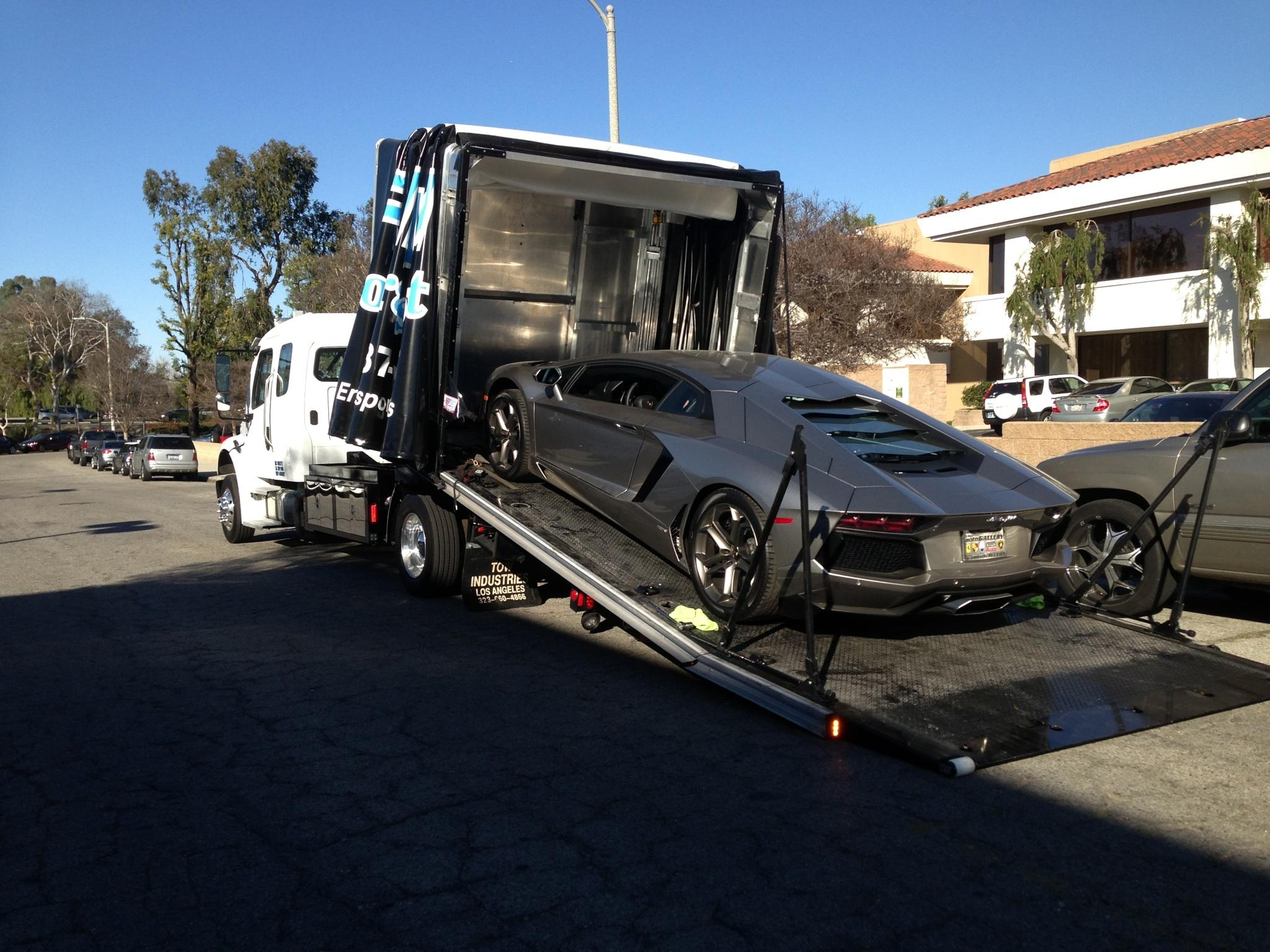 lond distance sport car towing