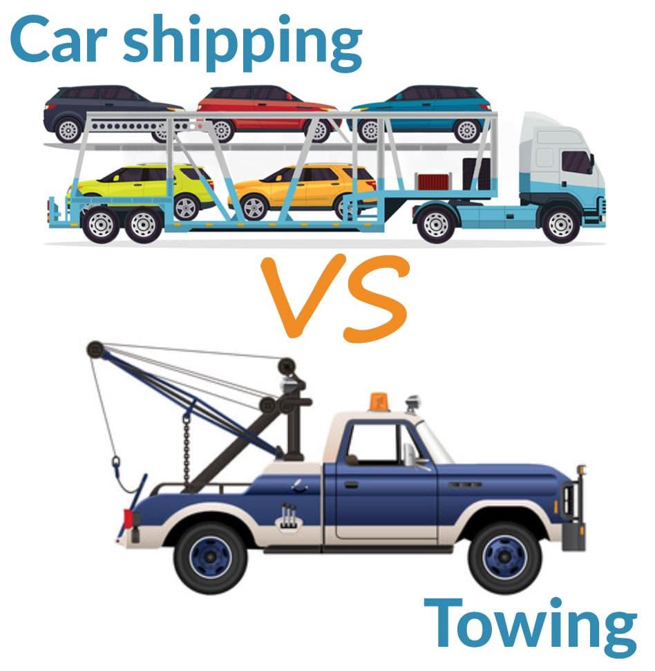 car shipping vs. towing