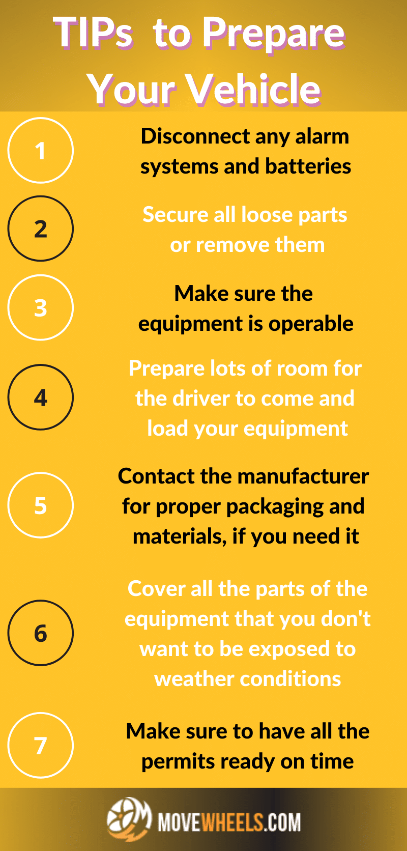 TIPs to Prepare Your Vehicle for the shipping process