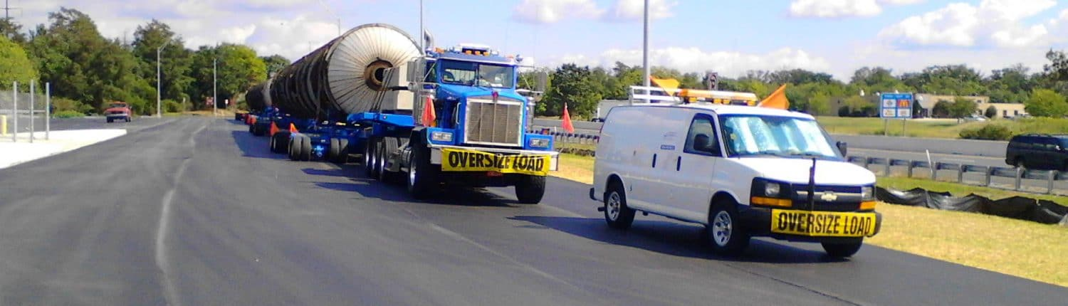 heavy vehicles shipping with escort
