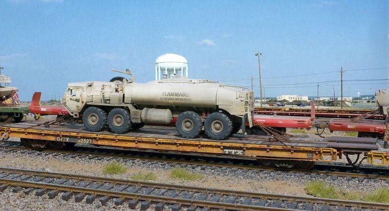 heavy equipment railway transportation