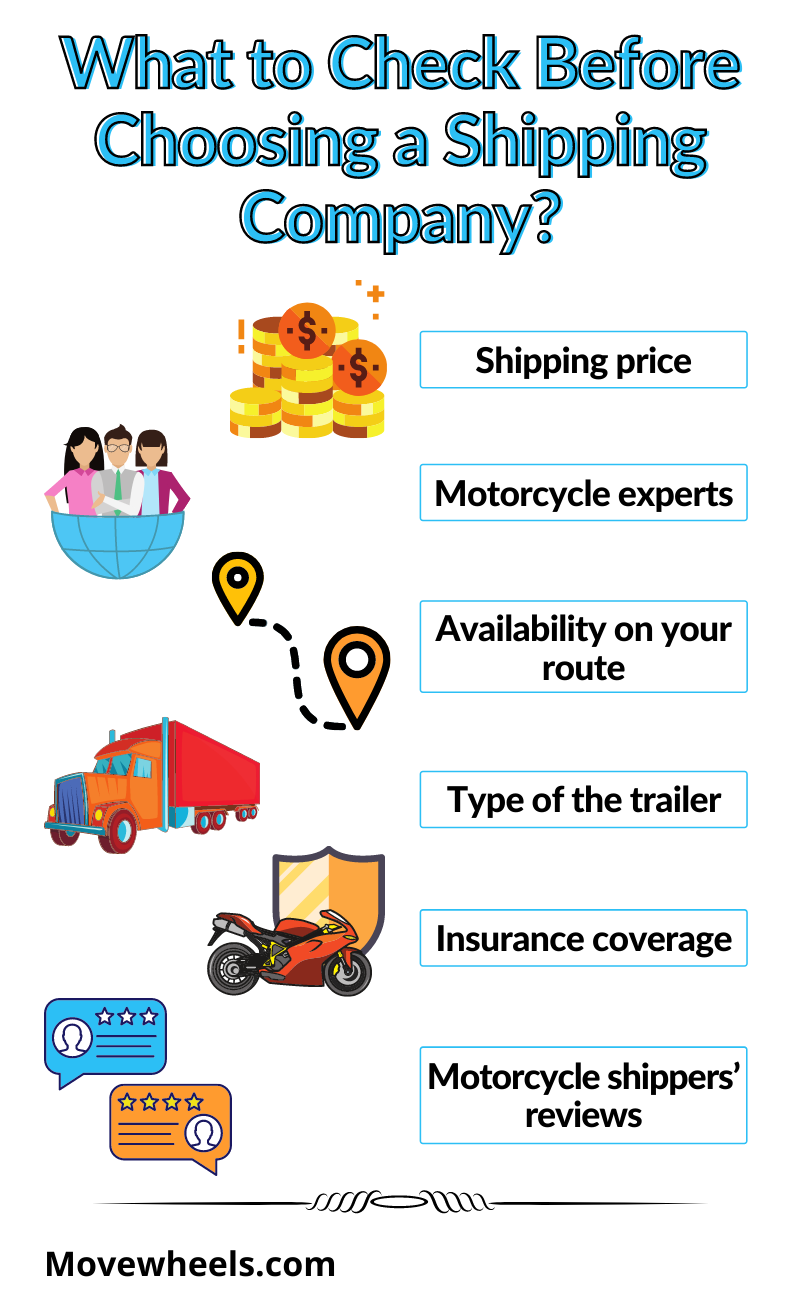 what to check before choosing motorcycle shipping company